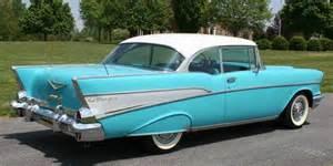 turquoise white 1957 chevy bel air 2 door hardtop