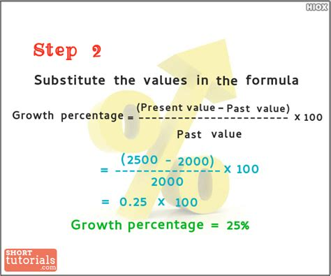 how to calculate years how to calculate growth percentage step2