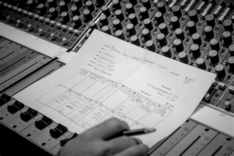A Inside Look At Gorilla Chief S Stay At Metrosonic Recording Studio Recording Session Sheet Templates