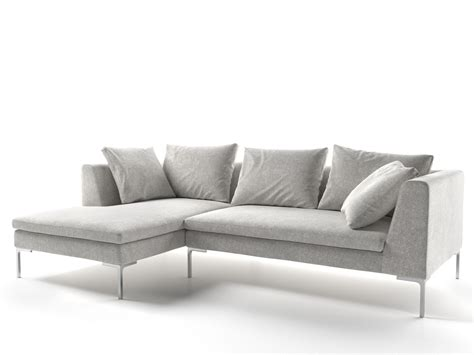 couch italia charles sofa charles sofa with chaise longue by b italia