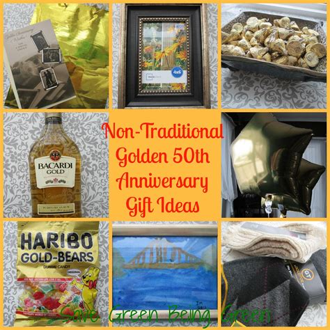 50th wedding anniversary gift ideas save green being green non traditional golden 50th wedding anniversary gift ideas