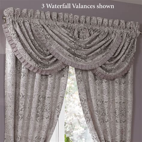 Grey Waterfall Valance Nomad Medallion Waterfall Valance By Croscill