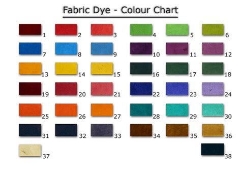 color dye for clothes fabric dye colour chart