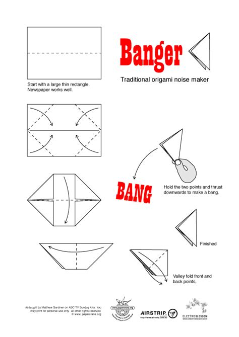 How To Make Popping Paper - origami popper oragami