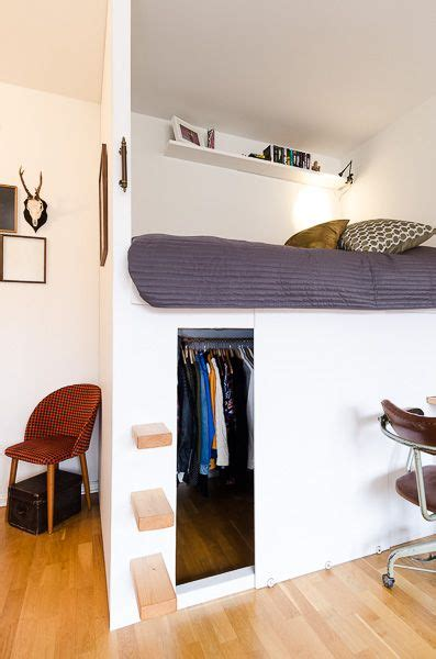 Bunk Bed With Closet Underneath Low Loft Beds Loft Beds And Loft On Pinterest