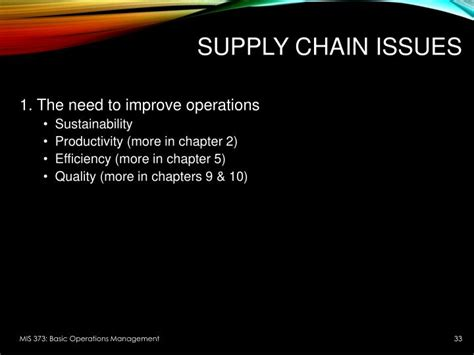 Do You Need An Mba For Supply Chain Management by Ppt Introduction To Operations Management Powerpoint