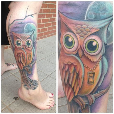 owl tattoo in color owl tattoos page 13