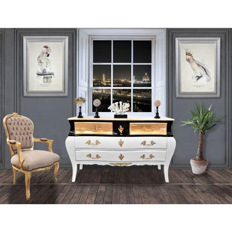Grande Commode by Grande Commode Baroque De Style Louis Xv Laqu 233 Blanc Et Noir