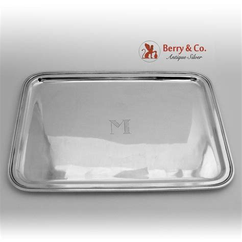 Silver Dresser Tray by Co Rounded Dresser Tray Sterling Silver 1922 From Berrycom On Ruby