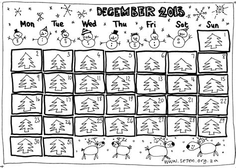 printable advent calendar coloring page printable advent calendars to make calendar template 2016