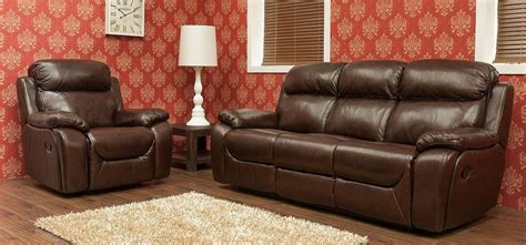 wine colored sofa carson 3 1 1 seater reclining leather sofa suite brandy