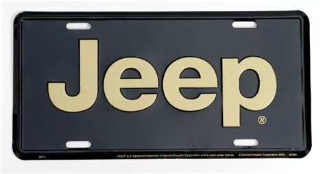 Jeep License Plates Jeep Merchandise 2673 Jeep 174 Logo License Plate In Gold