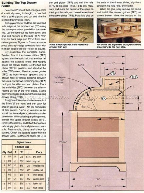 roll top desk plans woodarchivist