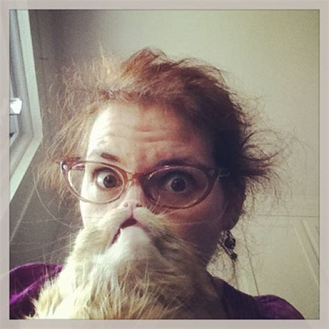 Cat Beard Meme - cat beards a photo meme where people place a cat in front of their face to make a furry beard