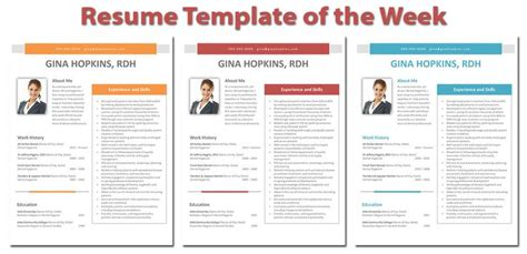 design week cv this week s highlighted dental hygiene resume template