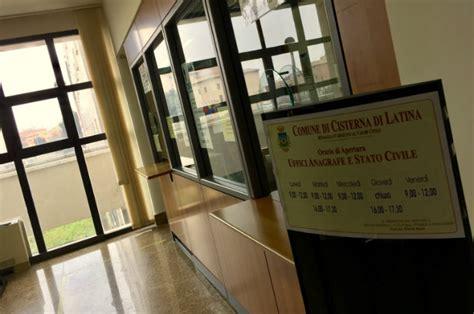 comune di sabaudia ufficio anagrafe cisterna sulla carta di identit 224 l autorizzazione per