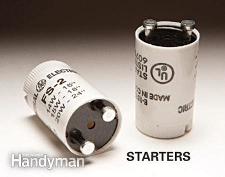 where is the starter in a fluorescent light fixture fluorescent light repair the family handyman