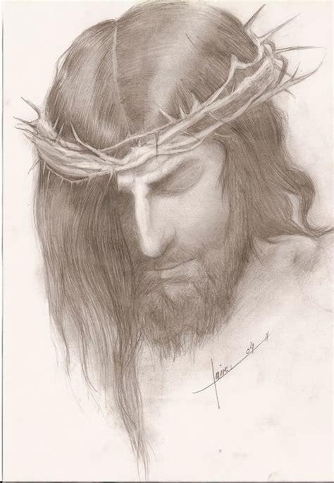 imagenes a lapiz del rostro de jesus dibujos hechos a lapiz jesus imagui