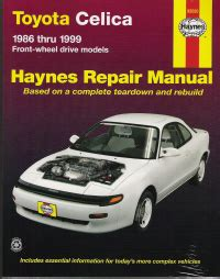 car maintenance manuals 1978 toyota celica head up display 1986 1999 toyota celica front wheel drive models haynes repair manual