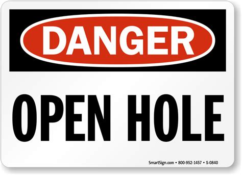 Danger Get On The Floor open trench and pit signs from mysafetysign