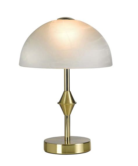 Glass Dome Table L by B328l Gold Look Led With Frosted Glass Dome Table L