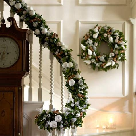christmas garland for banister decorate your banister essential christmas decorations