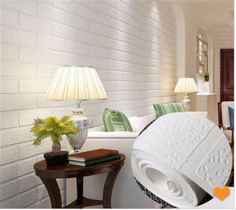 jual  wallpaper dinding batu bata putih full white