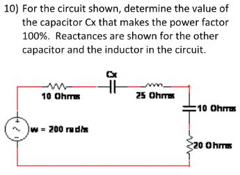 how to check capacitor in the circuit for the circuit shown determine the value of the chegg