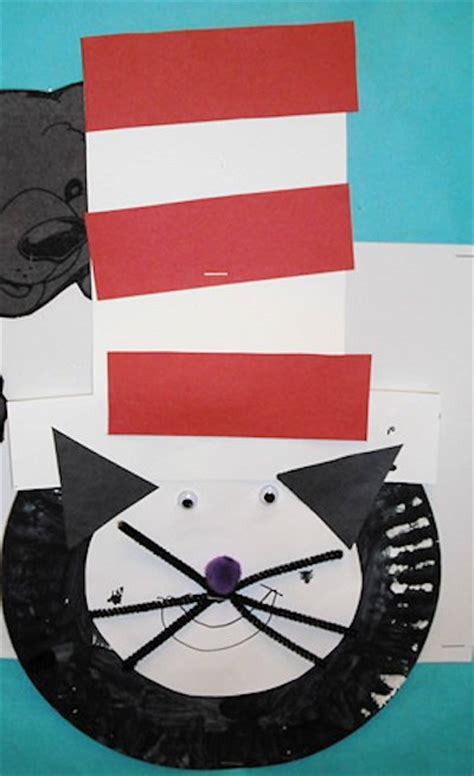 Cat In The Hat Paper Plate Craft - 30 cat in the hat crafts and treats about family crafts
