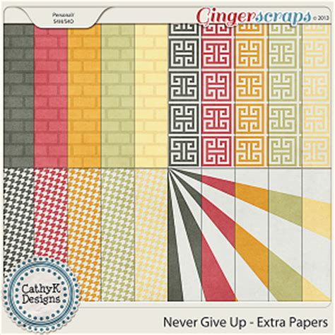 Never Give Up Essay by Gingerscraps Paper Packs Never Give Up Papers By Cathyk Designs