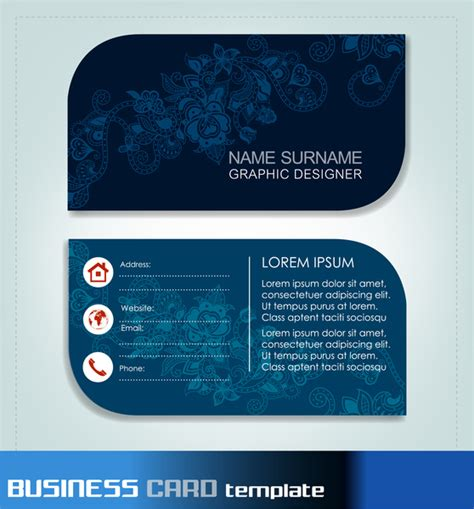business card templates ai free business card templates free vector in adobe illustrator