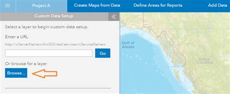 arcgis tutorial data setup custom data setup business analyst web app arcgis