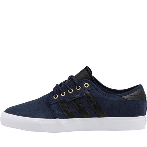 Adidas Seely Navy buy adidas originals mens seeley trainers navy black white