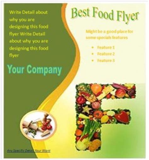 Food Sale Flyer Template Free