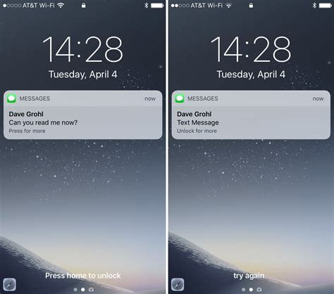 Iphone Lock Screen How To Hide Text Messages Email Notification Previews From The Lock Screen