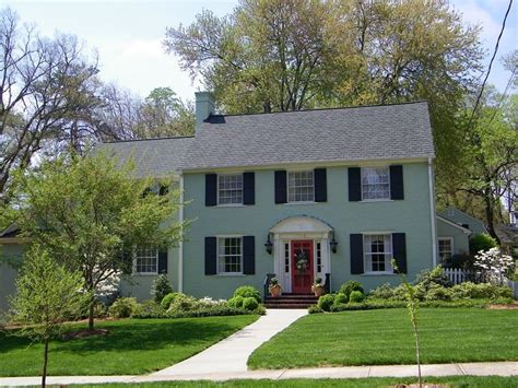 painted brick house the best answer of looking brick house light green painted brick