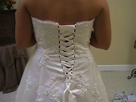 Wedding Dress Zipper To Corset by Alterations By We Specialize In Delicate