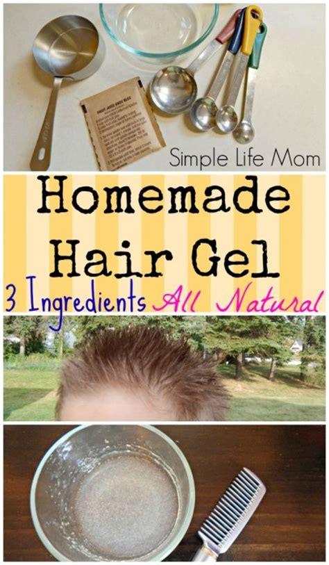 homemade thickening hair recipes homemade natural hair gel recipe simple life mom