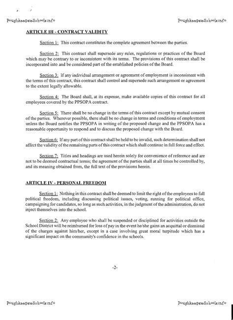 section 111 agreement poughkeepsie schools info poughkeepsie schools info