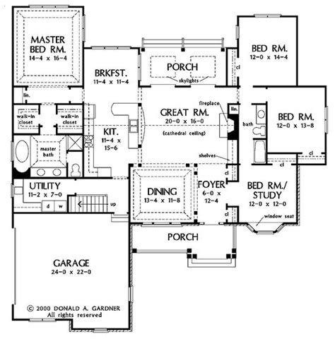 One Story Open Floor Plans With 4 Bedrooms Generous One One Story House Plans With One Dining Area