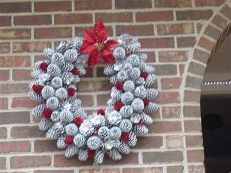 wreath made of pine cones hometalk