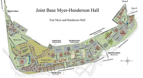 map of fort myers jbm hh gates access fort myer henderson virginia