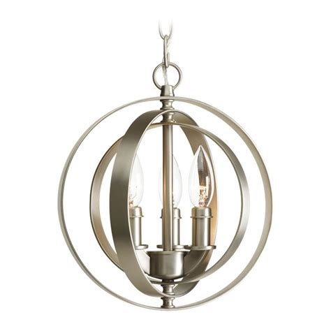 Orb Pendant Light Progress Orb Pendant Light In Burnished Silver Finish P5142 126 Destination Lighting