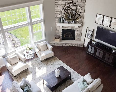 Living Room Furniture Layouts by Similar Floor Plan And Corner Fireplace To Our House