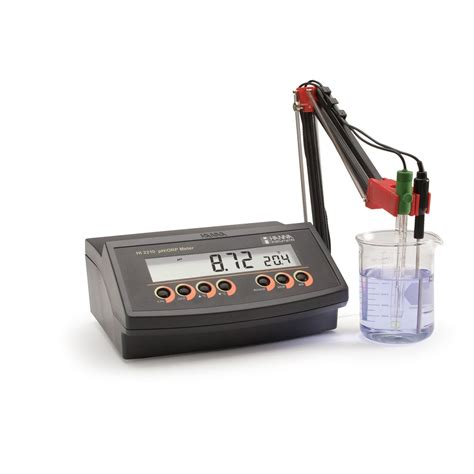 bench top ph meter benchtop ph meter with 0 01 ph resolution hi2210 hanna