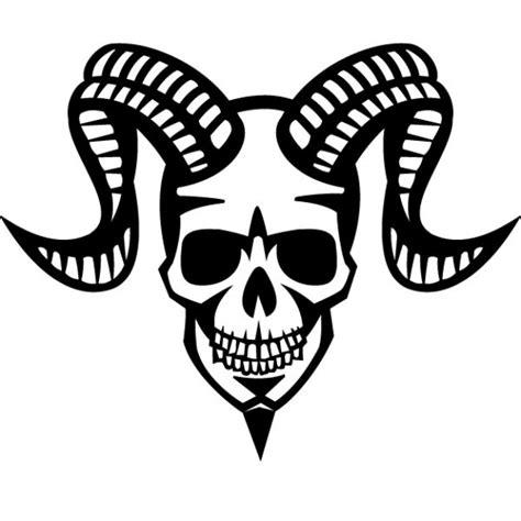 tattoo assassins descargar sonriente calavera con cuernos de carnero descargar