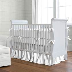 solid white crib bumper carousel designs