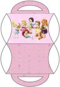 moldes de cajitas para candy bar de princesas baby