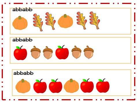 pattern and math a teacher s touch fall math freebie