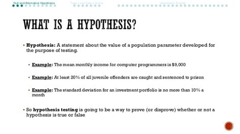 hypothesis template ch 9 hypothesis testing with one sle part i